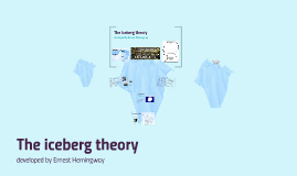 the iceberg theory by katie taylor on prezi