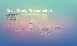 Desk Study Presentation