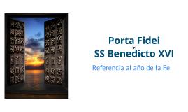 Copy of Porta de Fidei