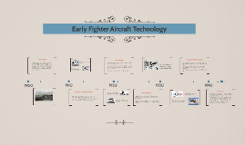 Early Fighter Aircraft Technology