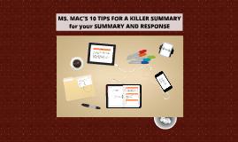 10 TIPS FPR A KILLER SUMMARY AND RESPONSE ESSAY