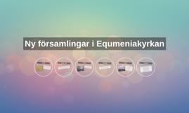 Ny församlingar i Equmeniakyrkan