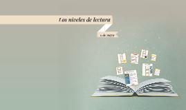Los niveles de lectura