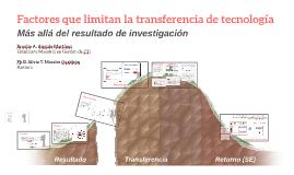 Factores que limitan la transferencia de tecnología