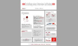 Erstellung eines Interview-Leitfadens