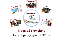 iPads på Elev Skole - SFO