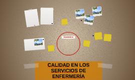 CALIDAD EN LOS SERVICIOS DE ENFERMERÍA