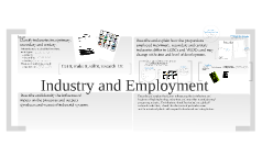 IGCSE: Industry and Employment