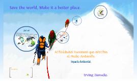 Actividades Humanas que afectan el medio ambiente.