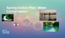 Spring Action Plan: Water Conservation