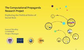 The Computational Propaganda Research Project