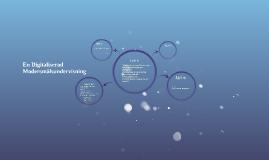 En Digitaliserad Modersmålsundervisning
