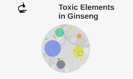 Toxic Elements in Ginseng