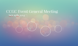 CCGC Event