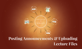 Posting Announcements & Uploading Lecture Files