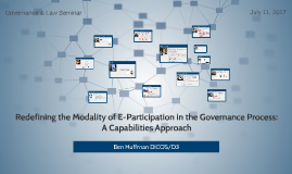 Redefining the Modality of E-Participation in the Governance