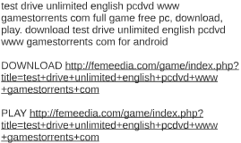 test drive unlimited android download free
