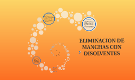 ELIMINACION DE MANCHAS CON DISOLVENTES