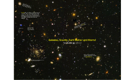 Galaxies, Gravity, Dark Matter and Atoms!