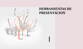 HERRAMIENTAS DE PRESENTACION