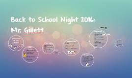 Back to School Night 2015