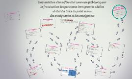 Implantation d'un référentiel commun québécois pour la franc