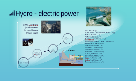 the production of electrical power through the use of the g