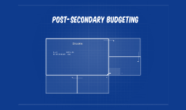 Post-Secondary budgeting