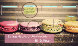 Eating Habits of Adamsonians