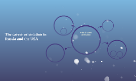 The career orientation in Russia and the USA