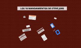 10 mandamientos Steve Jobs