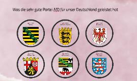 Qualitätskontrolle AfD
