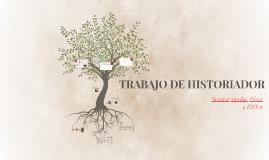TRABAJO DE HISTORIADOR