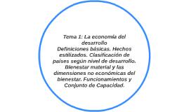 Tema 1: La economía del desarrollo Definiciones básicas. Hec