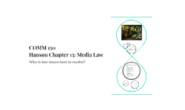 Chapter 13: Media Law