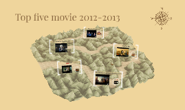 Top five movies 2012-2013