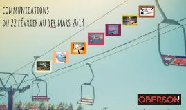 COMMUNICATIONS DU 22 FÉVRIER AU 01 MARS 2019