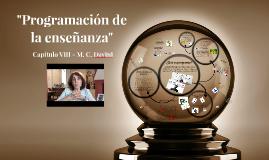 """Copy of """"Programación de la enseñanza"""" (Cap. 8 - M. C. Davini)."""