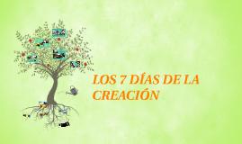 Copy of LOS 7 DÍAS DE LA CREACIÓN