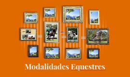 Modalidades Equestres