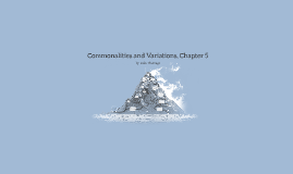 Commonalities and Variations, Chapter 6