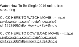 Watch nerve 2016 online free streaming by gina simpson on prezi watch how to be single 2016 online free ccuart Images