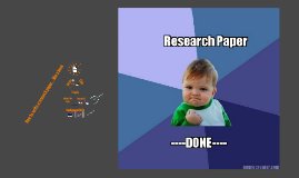 How to write a research paper... like a boss