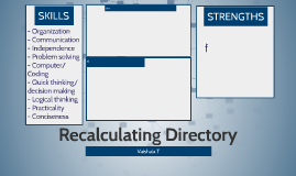Recalculating Directory