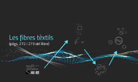 Les fibres tèxtils