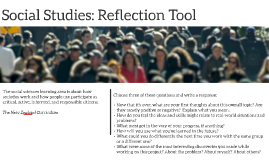 Social Studies: Reflection Tool