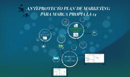 Copy of ANTEPROYECTO PLAN DE MARKETING PARA MARCA PROPIA LA 14