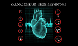CARDIAC DISEASE - SIGNS & SYMPTOMS