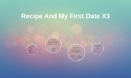 Recipe And My First Date X3