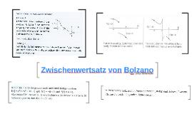 Zwischenwertsatz von Bolzano